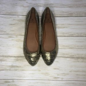 LUCKY BRAND gold pointed toe flats